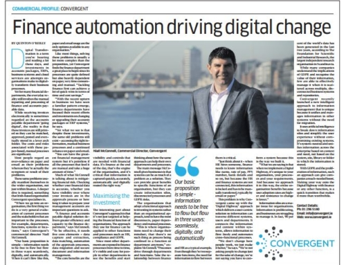 Convergent profile on the Sunday Business Post