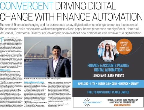 CONVERGENT DRIVING DIGITAL CHANGE WITH FINANCE AUTOMATION